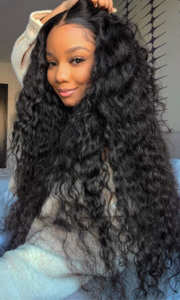 Water Wave Lace Closure Wig 30 Inch