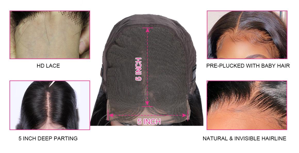 5x5 HD Lace Wigs