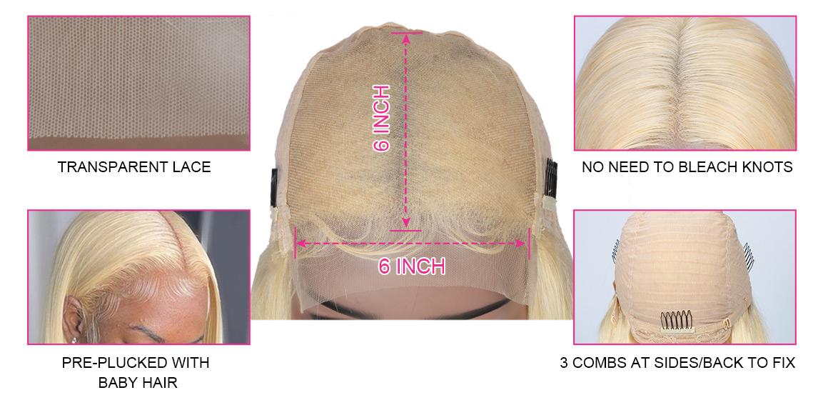 613 blonde 6x6 closure wig
