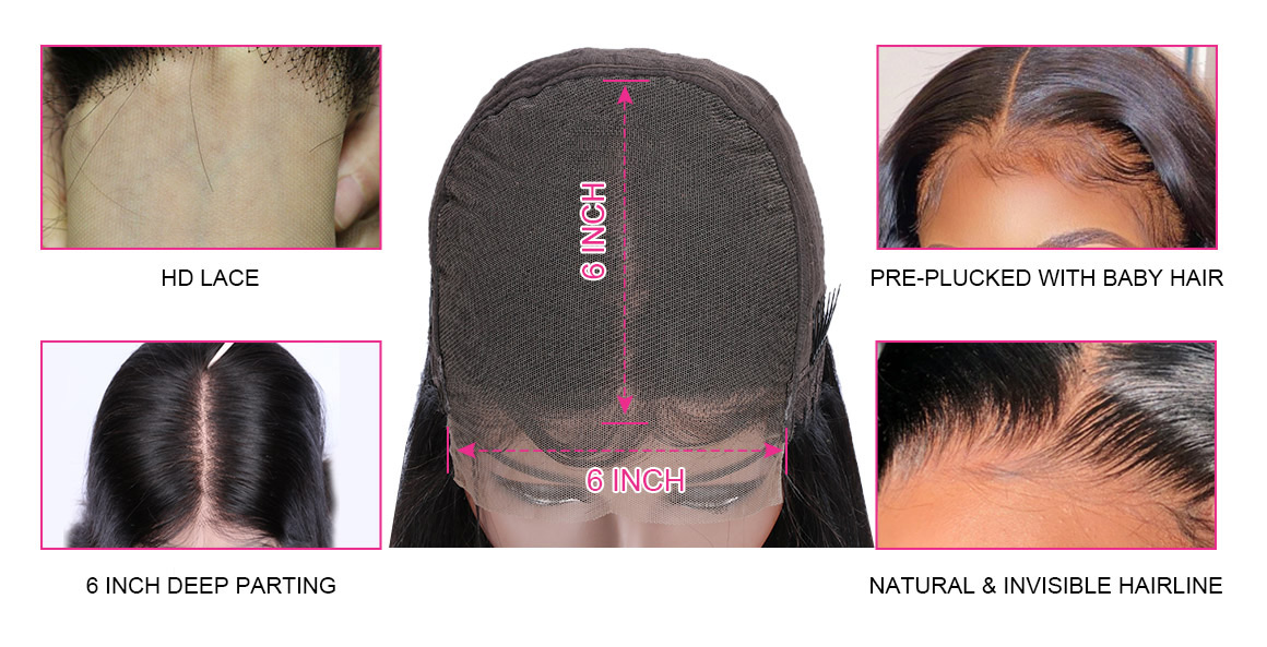 6x6 HD Lace Wigs