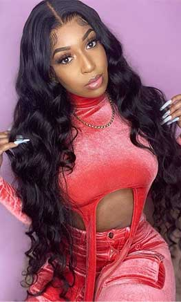 body wave closure wig 36 inch