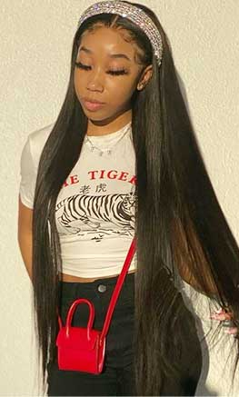 Straight HD Lace Wig 30 Inch
