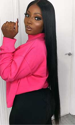 straight lace front wig 30 inch