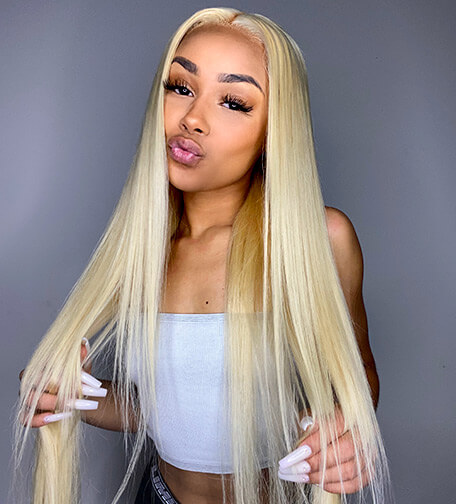 613 Blonde Straight 13*4 Lace Front Wigs